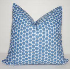 Decorative Pillow Throw Pillow Lacefield Blue Ikat Accent Pillow Size 18x18
