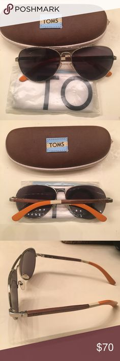 TOMS Classic 301 Unisex Aviator Sunglasses TOMS Classic 301 Aviator Sunglasses. Worn once/ no signs of wear. Made in Italy, 100% UVA/UVB protection. I believe these are limited edition! TOMS Accessories Sunglasses
