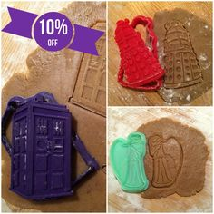 Doctor Who Collection - cookie cutters - 3pcs - Plastic 3d printed (PLA) in Дом и сад, Кухня, столовая и бар, Выпечка и изготовление конфет | eBay