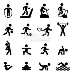 Fitness Icons Black Series Fitness icon Icon Professional icon