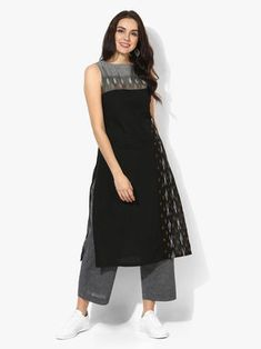 The Loom- An online Shop for Exclusive Handcrafted products comprising of Apparel, Sarees, Jewelry, Footwears & Home decor. Simple Kurti Designs, Kurta Designs Women, Kurti Neck Designs, Dress Neck Designs, Salwar Designs, Kalamkari Dresses, Kalamkari Kurta, Cotton Dresses Online, Frocks And Gowns