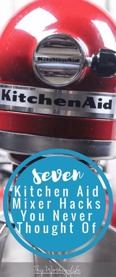 We love our Kitchen-Aid Mixer. Over the years we've been able to do so much with it besides using it for cooking. I've shared some of my best Kitchen-Aid hacks before, and now I'm sharing 7 more Kitchen-Aid Mixer hacks you never thought of. Red Kitchen Aid, Kitchen Aid Recipes, Kitchen Hacks, Kitchen Gadgets, New Kitchen, Kitchen Tools, Kitchen Appliances, Stand Mixer Recipes, Kitchen Aid Mixer Attachments