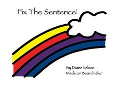 Ten worksheets for kindergarten and 1st grade! Each worksheet contains 5 sentences for students to fix. Upper and lower case letters to fix,  ending marks, and students illustrate each sentence to show reading comprehension!