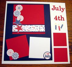 4th of July Progressive Scrapbook Page