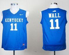 4bdac4aae47 Wildcats  11 John Wall Royal Blue Stitched NCAA Jersey Anthony Davis