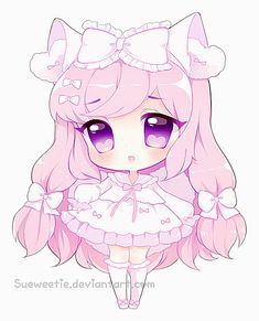 Detailed Chibi Commission for ~ The colors were amazing to work with! Dibujos Anime Chibi, Cute Anime Chibi, Kawaii Chibi, Kawaii Art, Kawaii Anime Girl, Kawaii Drawings, Cute Drawings, Bebe Anime, Manga Anime
