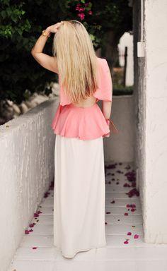 ...love Maegan: Peach Peplum Top Dressed up & Casual   Fashion * Beauty * DIY * Lifestyle