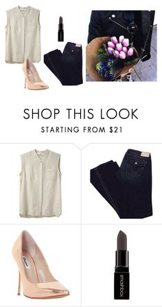 """""""Untitled #14284"""" by jayda365 ❤ liked on Polyvore featuring Golden Goose, True Religion, Dune and Smashbox"""