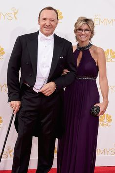 Pin for Later: The Small Screen's Hottest Stars on the Emmys Red Carpet! Kevin Spacey and Ashleigh Banfield