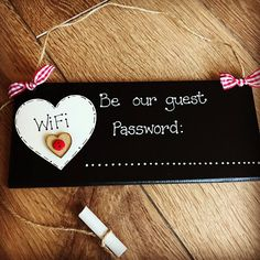 WiFi Password Handmade Plaque Sign Chalkboard Home & Business