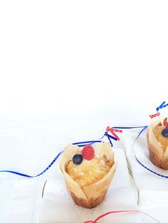 Ribbon little flags. Last minute DIY 4th of July. Hostess decoration project. Super easy.  Splendor in Spanglish - Cupcake Toppers - DIY