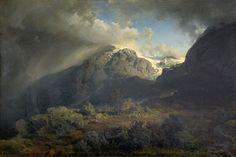 Hans Gude: Norskt landskap (1858)