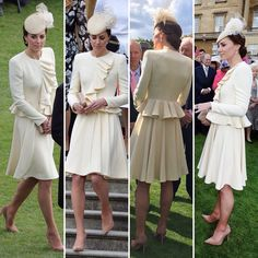 """Kelly Mathews on Twitter: """"Duchess Kate recycles McQueen dress for Garden Party today at Buckingham Palace ☕️ pics @dailymail"""