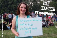 """""""Ich brauche #Feminismus, weil es DAS Geschlecht nicht gibt!"""" (Silvia)"""