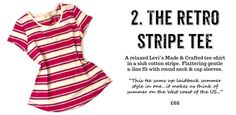 stripe levi's made and crafted tshirt