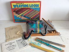 1970s Vintage Spears Weaving Loom Size 3 - Spears Weaving Loom - Childs Loom - Complete with Instructions and Weaving Patterns and Plans