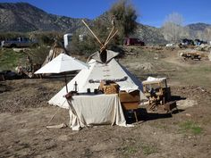 #109    Indian encampment