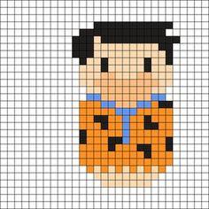 Fred - The Flintstones Perler Bead Pattern