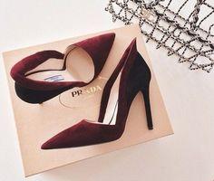 Prada Wine Shoes, Marsala, Heeled Boots, Shoe Boots, Shoes Heels, Oxblood, Pumps, Beautiful Shoes, Gorgeous Heels