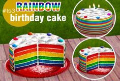 """tscc-creator: """" RAINBOW BIRTHDAY CAKE - The Sims 3; - Interactive; - Own rights; DOWNLOAD Do not re-upload my creations without my permission. """""""