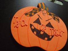 Punk Pumpkin foam Halloween Decoration by LabArcDesigns on Etsy, $5.00