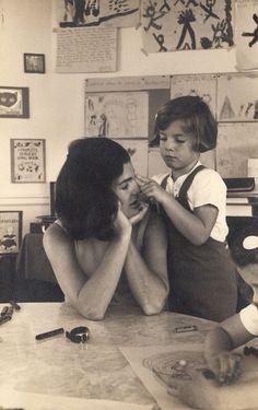 "shikijitsus: ""Jackie and Caroline, c. early 1960s """