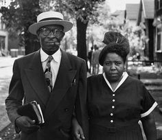 Husband and wife, Fort Scott, Kansas, 1949 Gordon Parks Collection, Schomburg Center for ...