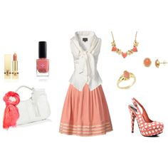 """""""Pinky Coral"""" by pleborio on Polyvore"""