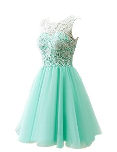 MicBridal® Girl's Short Lace and Tulle Party Dress Evening Gown Size UK13 Blush