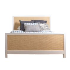 Children's Modern Max Bed With Caning - Available in a Variety of Sizes and Colors from The Well Appointed House