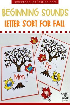 Looking for a fall themed alphabet sort? This low prep print and go fall activity is perfect for kindergarten and first graders! Check out these tree sort alphabet activities! Your students can practice making fall trees with every letter of the alphabet. This letter identification activity is a great litercy center activity for students to practice letter recognition and beginning sounds. They will love this fun phonics hands on center.