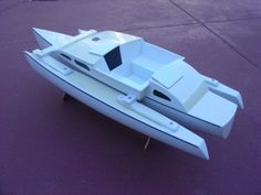 Trimaran - Especially Searunner - Owners - Page 157 - Cruisers & Sailing Forums Wooden Boat Kits, Wooden Boat Building, Wooden Boats, Cool Boats, Small Boats, Boat Design, E Design, Luxury Pontoon Boats, Build Your Own Boat