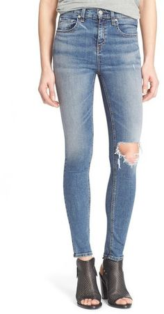 7dbdca8b79d0 rag   bone JEAN High Rise Skinny Jeans (Ward) available at