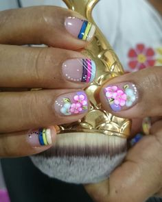 Nail Designs, Nails, Beauty, Ideas, Designed Nails, Enamels, Yellow Nails, Flower Designs, Hair And Nails