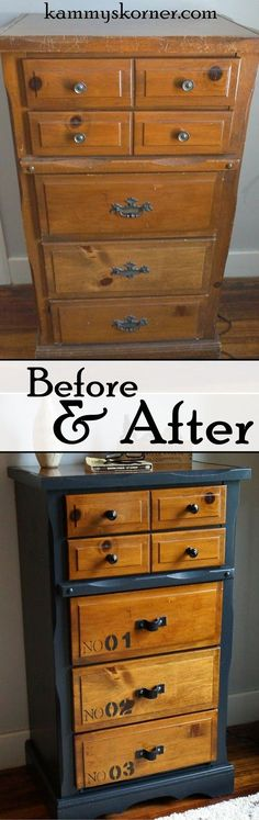two tone furniture painting. Two-toned Dresser With Card Catalog Pulls | Dresser, Chalk Paint And Annie Sloan Two Tone Furniture Painting