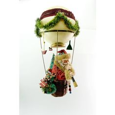 Santa is Watching Vintage KSA Collectibles Fabriche Christmas is in... ($125) ❤ liked on Polyvore featuring home, home decor, holiday decorations, thank you banner, holiday figurines, holiday tags and hand figurine