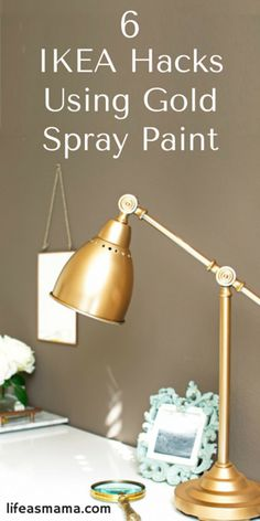 What's better than an Ikea hack? An Ikea hack with gold spray paint! Take that boring and common Ikea piece and turn it into something glam with these ideas!