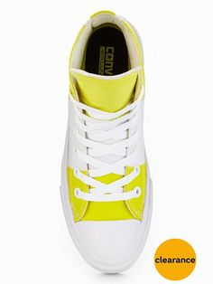 Converse Chuck Taylor All Star II Hi-Tops - Yellow/White When you need your trusty Chuck Taylor's to do more, reach for the All Star Hi-Tops II by Converse. Boasting a plush Lunarlonsockliner, they're a super comfy pair that respond to your step and provide day long cushioning that's perfect for your busiest days, the collar and tongue are cushioned too and the liner is crafted from breathable suede for an even more premium feel. Available in a scene-stealing yellow and wh...