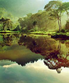 He leads me beside still waters...