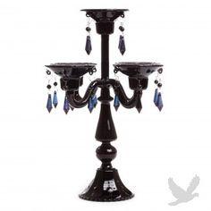 Glass Candelabra Table Centerpiece - BLACK BEST SELLER!