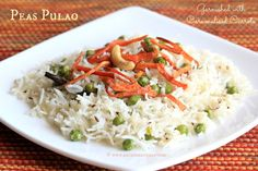 Ruchik Randhap (Delicious Cooking): Peas Pulao & a Product Review of Star Saver Tibar Basmati Rice & Star Cow Ghee