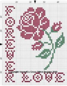 101 ÇEŞİT GÜL ŞABLONU (1) - GELİN İŞLERİ 123 Cross Stitch, Cross Stitch Cards, Cross Stitch Borders, Modern Cross Stitch Patterns, Cross Stitch Flowers, Counted Cross Stitch Patterns, Cross Stitch Designs, Cross Stitching, Cross Stitch Embroidery