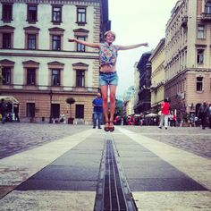 jumping in the streets of Budapest