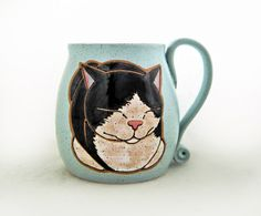 Tuxedo Cat Mug Custom Pet Portrait Mug Dog Pet Coffee Mug Cup Personalized Mother Mom Dad Gift Idea Mugs Dog Lover Gift For Her Hand Painted Kittens Cutest, Ragdoll Kittens, Funny Kittens, Bengal Cats, Kitty Cats, Dog Lover Gifts, Dog Lovers, Pet Dogs, Pets
