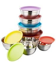 P P Chef Mixing Bowls With Lids 14 Piece Stainless Steel Mixing Bowl Set For Baking Cooking Fruit S Mixing Bowls Set Mixing Bowls Stainless Steel Mixing Bowls