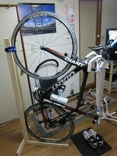 DIY vertical bike stand