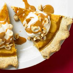 Crunchy pistachios and spiced gingerbread complement the sweet pumpkin and cream cheese filling in this twist on traditional pumpkin pie: http://www.bhg.com/recipes/desserts/pies/pumpkin/pumpkin-pie-recipes/?socsrc=bhgpin100414pumpkiniceboxpie&page=6