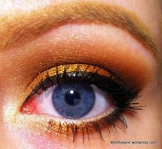 Vibrant gold eye make up #eyes #makeup #eyeshadow by jess70