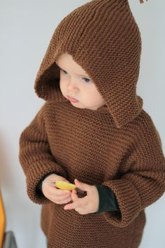 "The Burnou's ""Caramel"" by Granny - les tricots de Granny - tuto du burnou caramel - *pattern (translated from French) Knitting For Kids, Baby Knitting Patterns, Crochet For Kids, Baby Patterns, Free Knitting, Crochet Baby, Knit Crochet, Baby Pullover, Baby Cardigan"