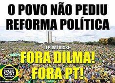 Brasil-Dilma Rousseff-2015-Charge-Fora Dilma! Fora PT!